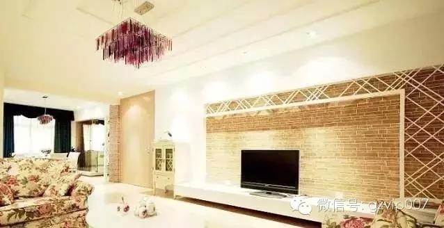 经典田园风格电视背景墙效果图 清新文艺背景墙