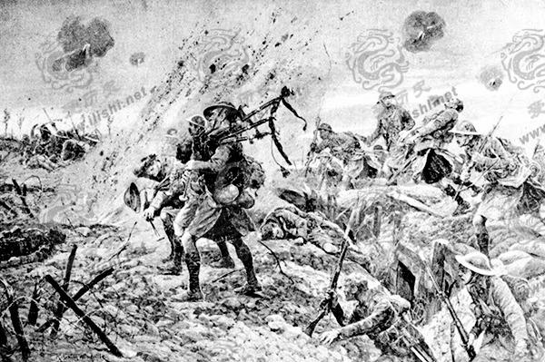 苏格兰风笛手用自己的牺牲给了士兵一颗勇敢的心