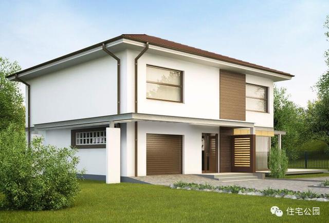 方正户型11米x11米农村自建房带立体图,平面图图片