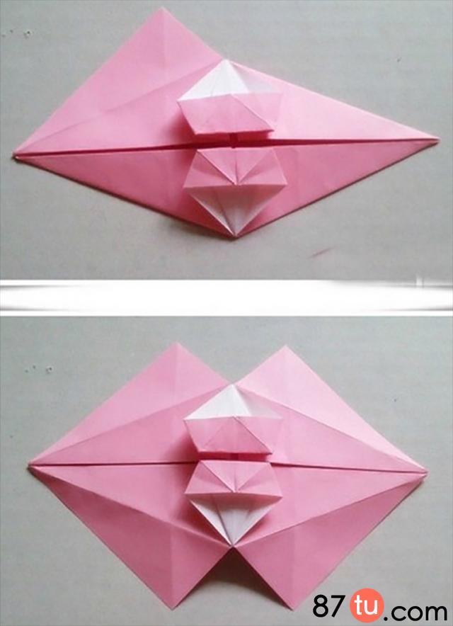 亲子手工精致的小雨伞折纸图解教程