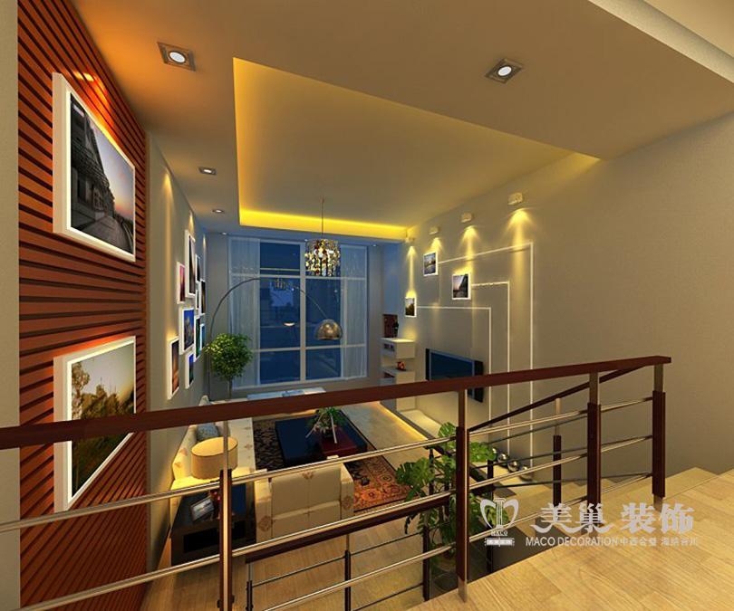 小户型复式楼装修效果图 华林尚峰苑45平一居室图片