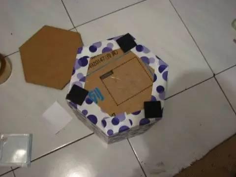 废旧纸箱废物利用手工制作垃圾桶图解