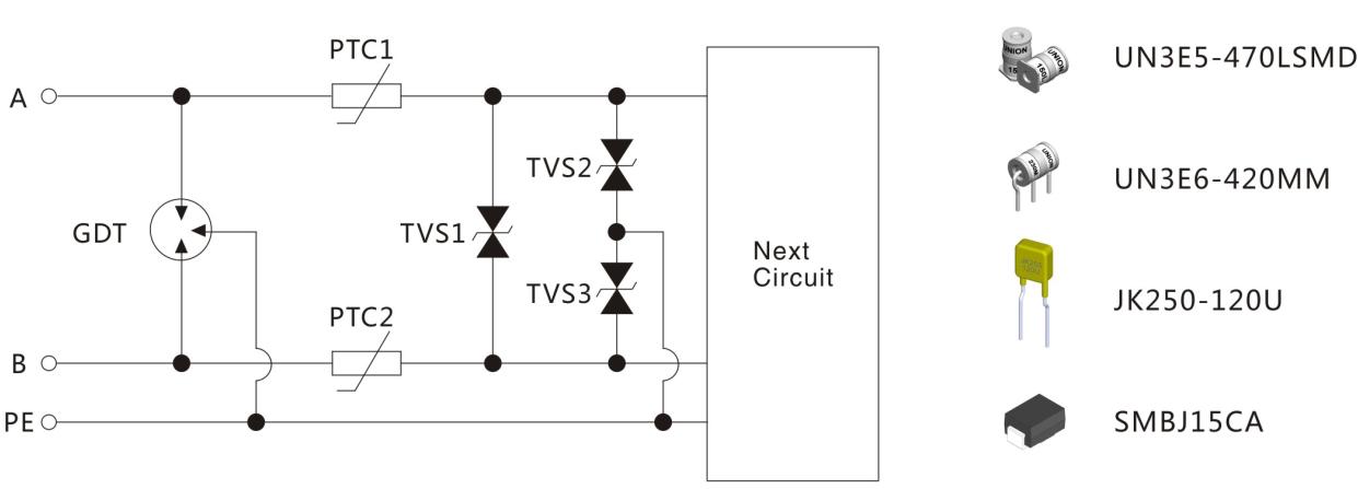电路保护:rs485/232防护方案电路图及防护思路分析