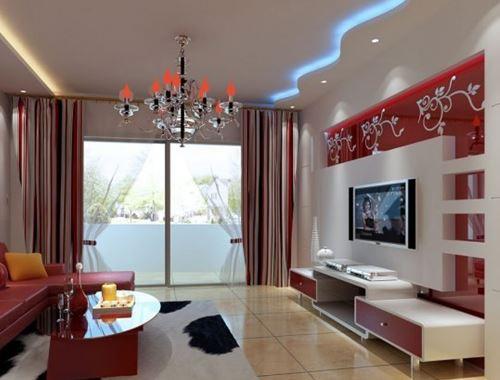 高新区小户型装修公司客厅吊顶效果图