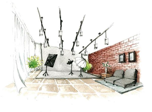 工作室&室内影棚手绘图