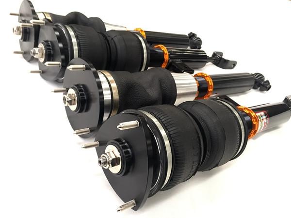 宝马5系改装气动避震的逆天低姿态图片