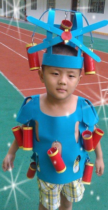 六一儿童节环保手工衣服欣赏