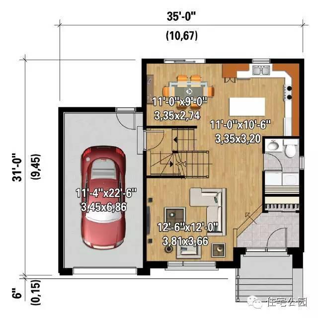 3套农村自建房,11米面宽25万搞定的精致户型
