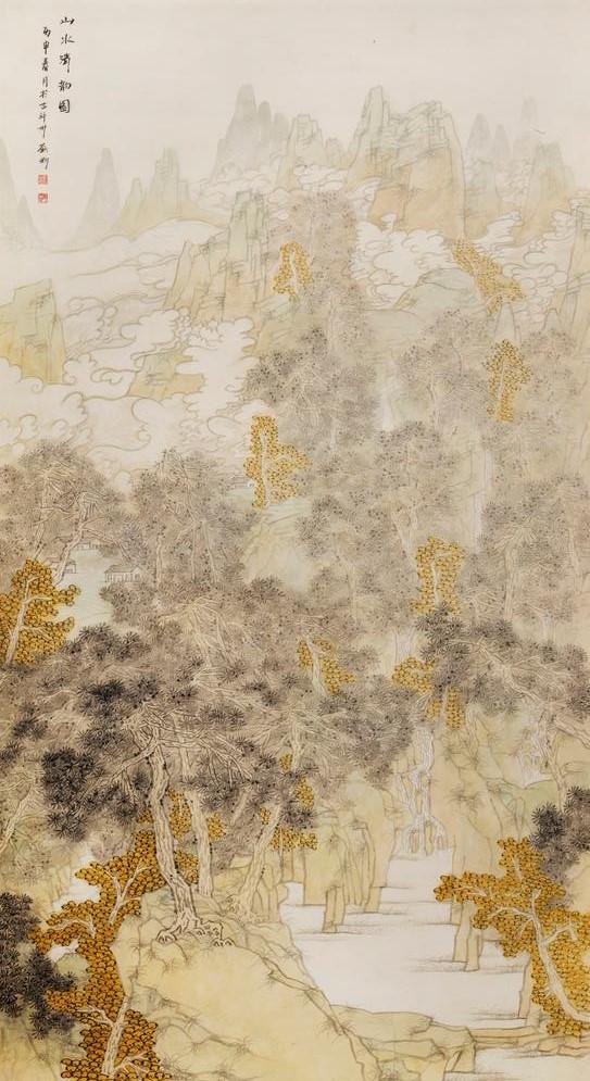 王雅君 王天羽土豆 山药蛋 马铃薯 119×116cm (中国山水画艺术网编辑