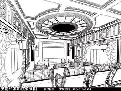电影院简笔画_客厅影院让客厅变成多元化的娱乐空间