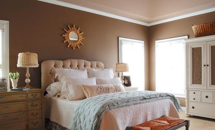 美式硅藻泥卧室图案