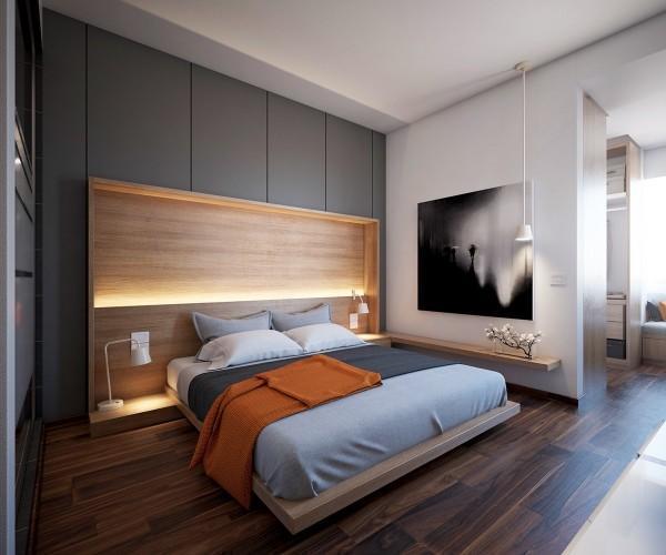 15个创意卧室背景墙灯光效果设计图片