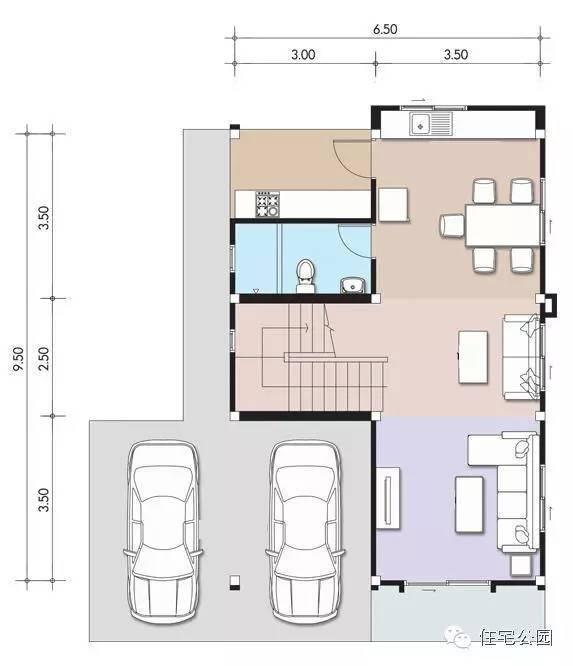 微信公众号:住宅公园,免费300套自建房图纸下载,乡村别墅设计,全国