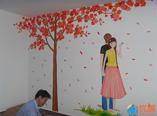 手绘墙面在很多年轻家庭里越来越受欢迎