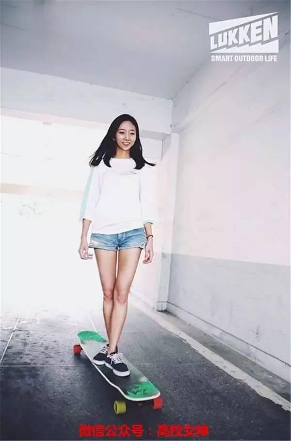 韩国滑板女神技术太高超,关键还漂亮,让宅男膜拜