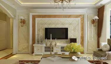 非常大气的磁砖背景墙,磁砖可以贴出很多种不同款式的造型,又好打理!图片