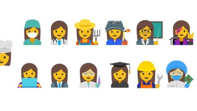 谷歌设计职业女性表情符号(双语)图片