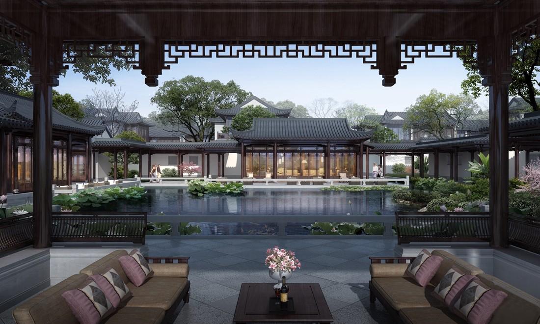 十里风荷将打造为江南园林里的中国院子,用水墨中国的形式,书写江南图片