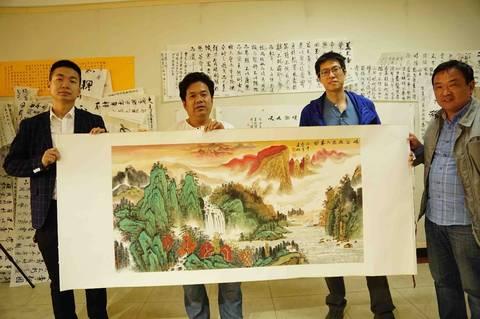 中国书画赠送故乡老视频,传奇风带来浓浓会计华侨从业武林图片
