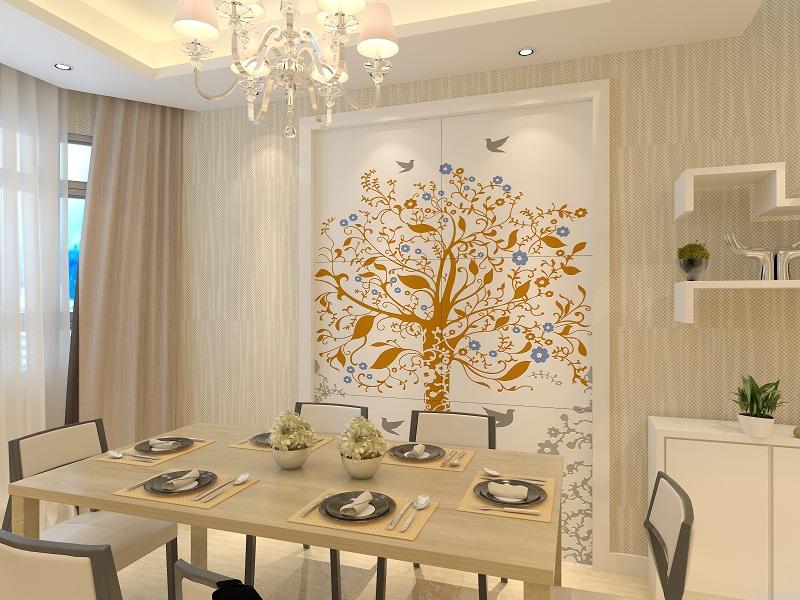 餐厅瓷砖背景墙