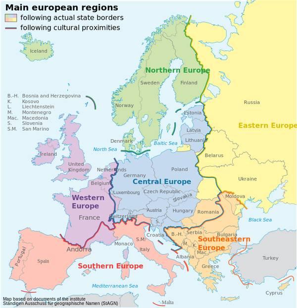 英国组成的西欧;西班牙,葡萄牙,意大利组成的南欧还有巴尔干半岛和图片