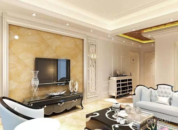 中式客厅电视背景墙效果图 简欧客厅电视背景墙图片