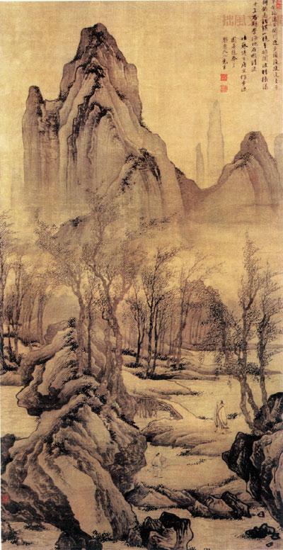 唐寅(明)山水画欣赏图片