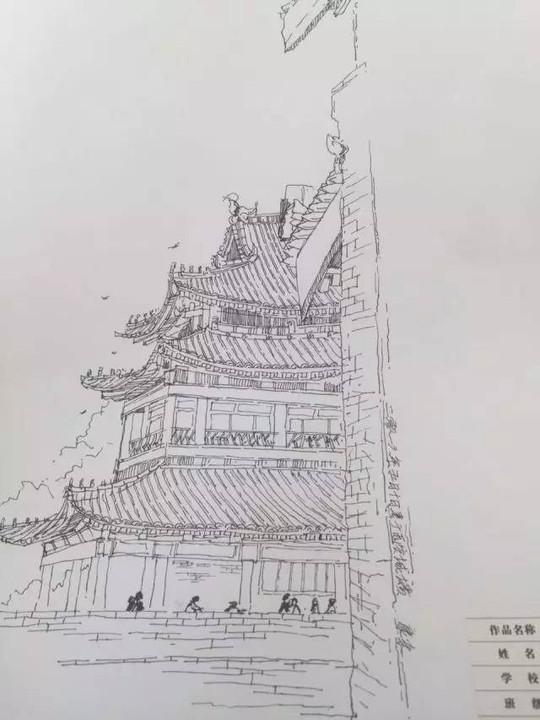 """当大明宫遇上西安城墙,画家笔下的""""宫城新韵""""原来是的图片"""