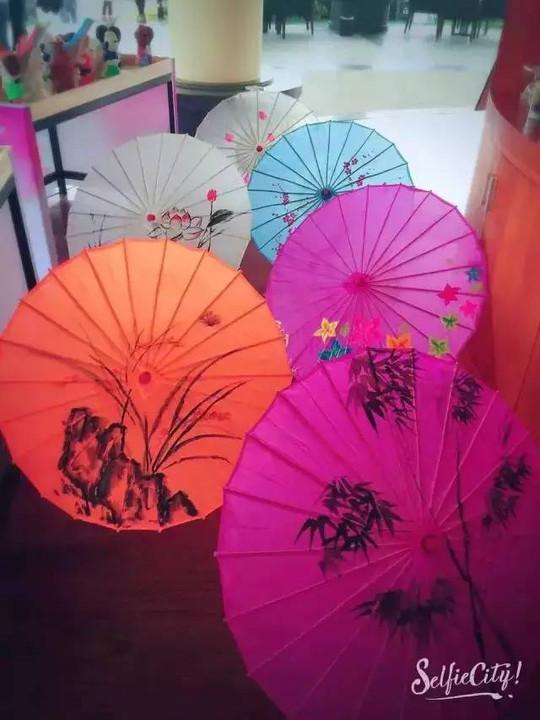 diy手绘油画伞