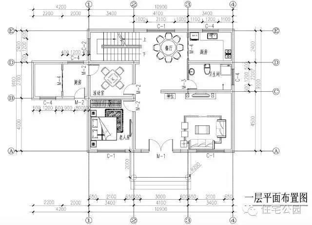 农村自建房10米x9米 带神位独立厨房