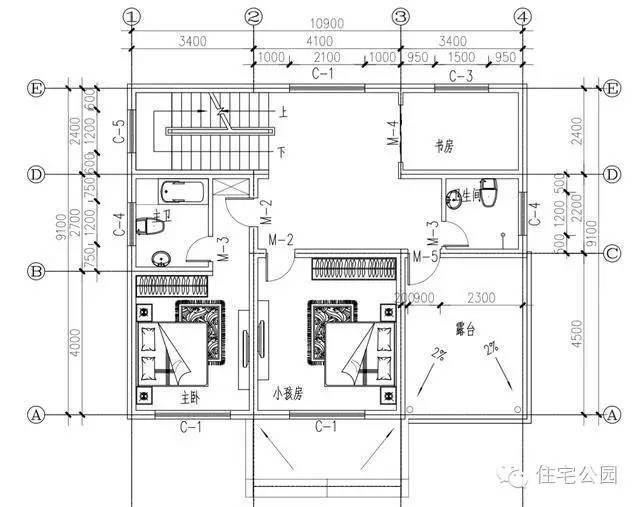 农村自建房10米x9米 带神位独立厨房 含平面图图片