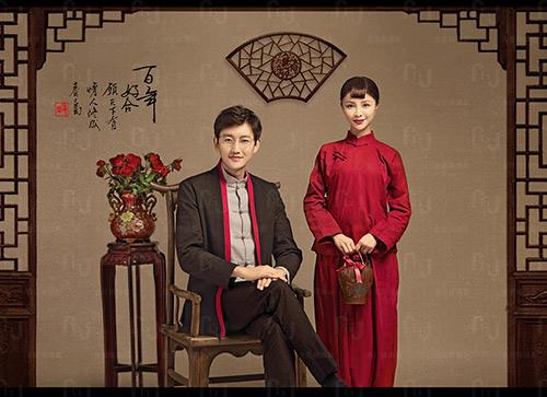 浪漫中式古装风格婚纱照图片