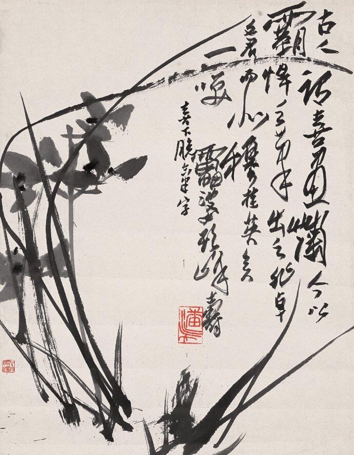 历代名家兰花图最具中国精神的中国画!图片