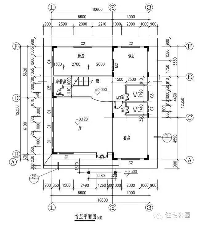 新农村自建房3层10米X12米 含平面图布局风水好