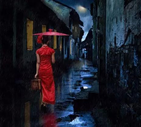 撑着油纸伞的姑娘,彷徨在寂寞的雨巷