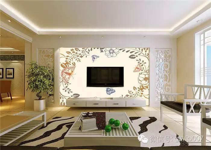 爆款!欧式客厅电视背景墙装修效果图大全2016图