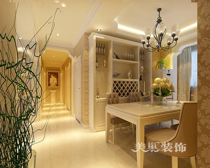 濮阳龙湖华苑134平三室两厅欧式田园装修效果图