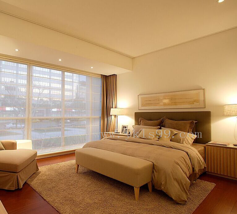 红棕色地板窗帘红木地板搭配窗帘图片7