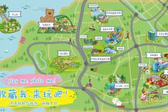 超级萌的手绘地图带你走近q版高新区!