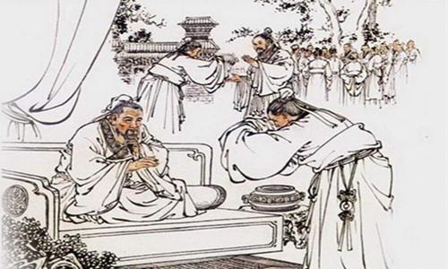 手绘古代读书人
