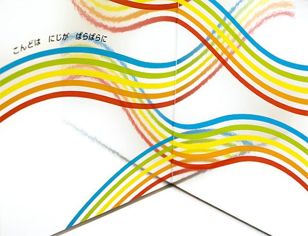 彩虹环形效果矢量图