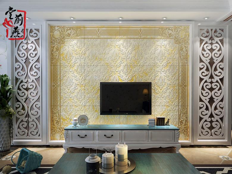 奢华大气欧式客厅背景墙