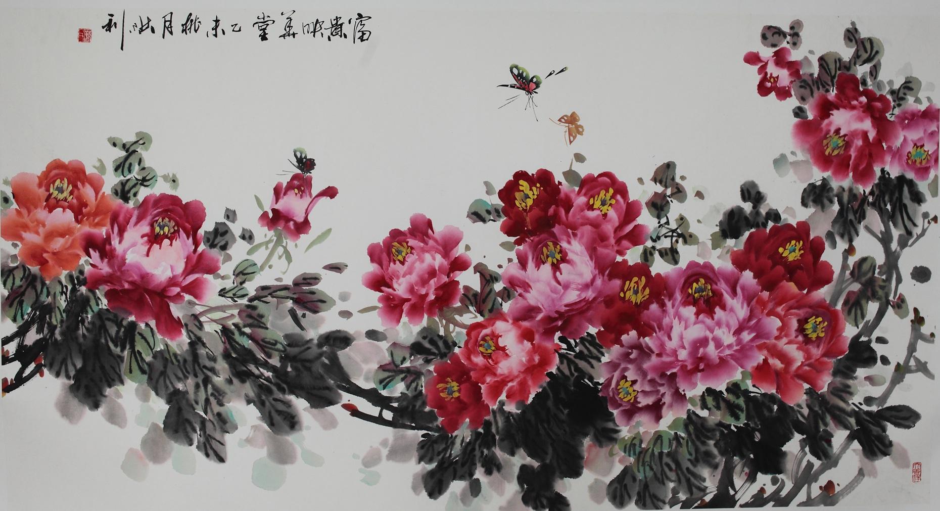 """被誉为""""黄淮海牡丹王""""安徽著名画家曹洪利先生绘画作品图片"""