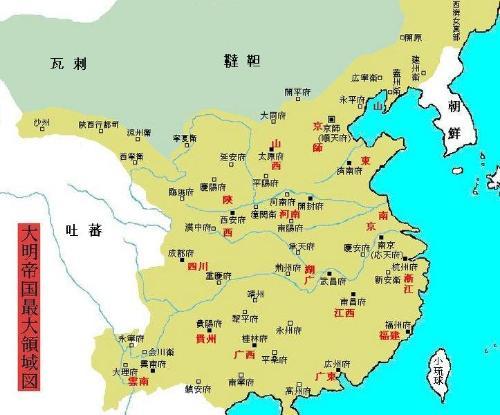 明朝疆域大还是清图片