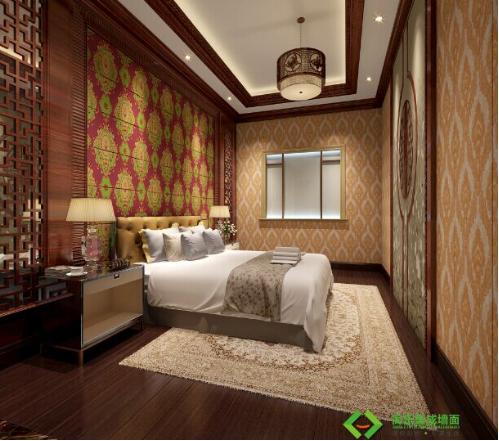 墙面装修效果图主要采用了简乐集成墙面欧式系列产品