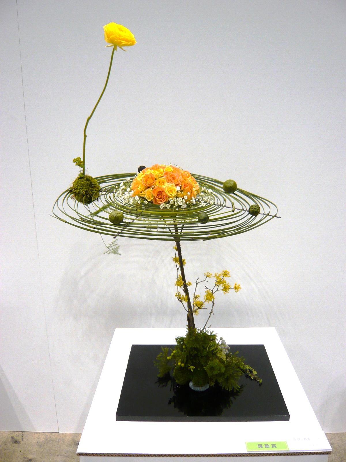 :   年日本杯花艺大赛(现代花艺部门)参 赛作品获奖 *2011年日本杯