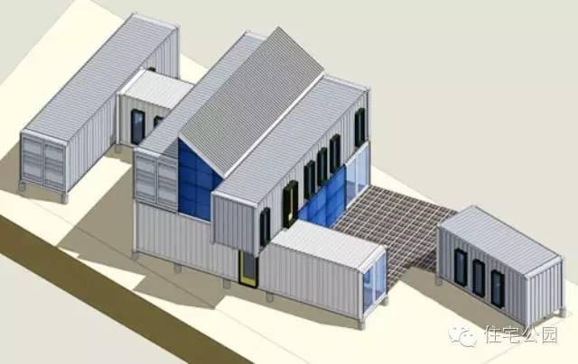 集装箱别墅屋顶设计图