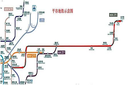平谷地铁示意图-大事 河北人快来围观,河北已确定第二条地铁对接北京图片