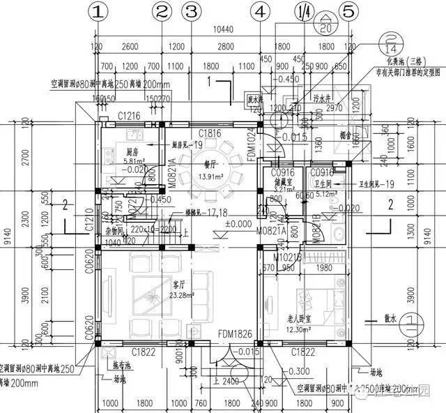 0米X10米 农村2层别墅经典户型 平面图来了