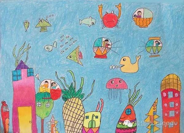 教师环保绘画作品图片